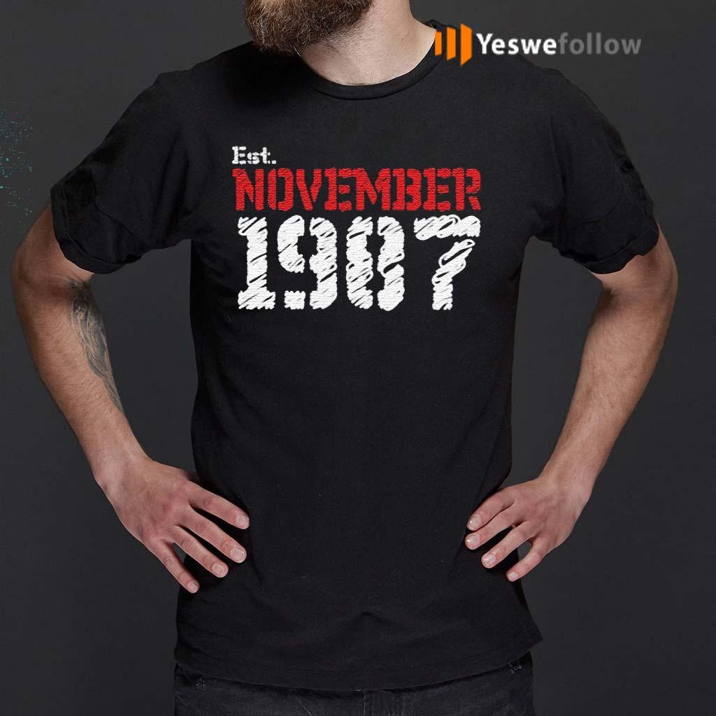 Est-November-1987-Birthday-Gift-TShirt