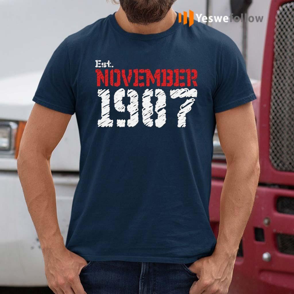 Est-November-1987-Birthday-Gift-TShirts