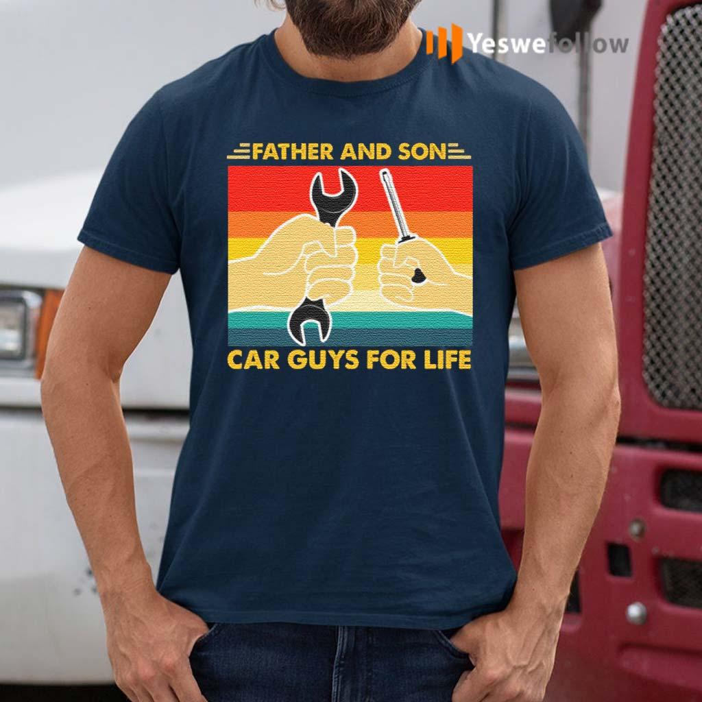 Father-And-Son-Car-Guys-For-Life-TShirt