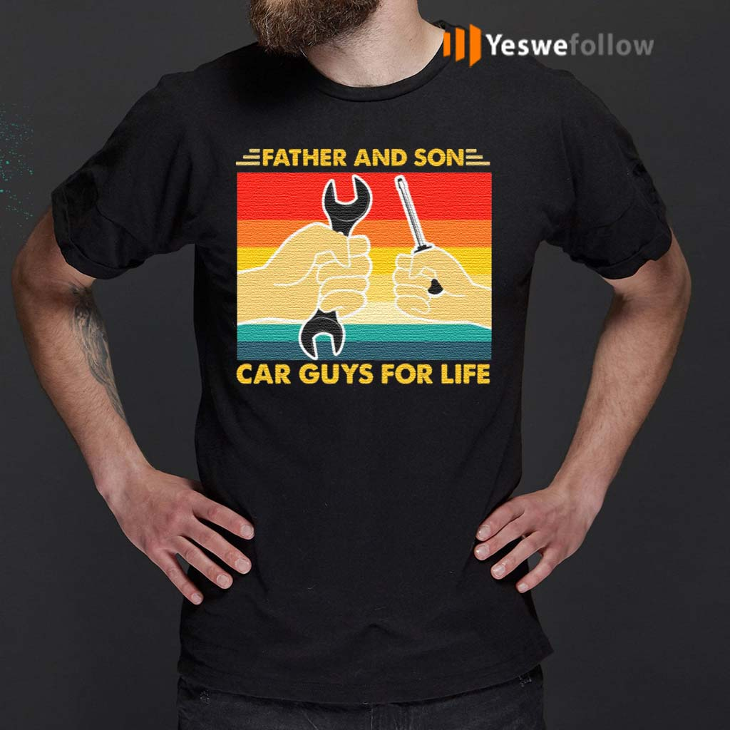 Father-And-Son-Car-Guys-For-Life-TShirts