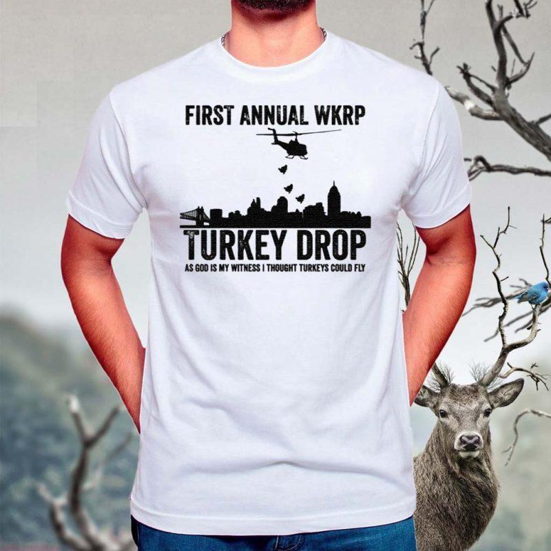 First-Annaul-Wkrp-Turkey-Drop-Tee-Shirt