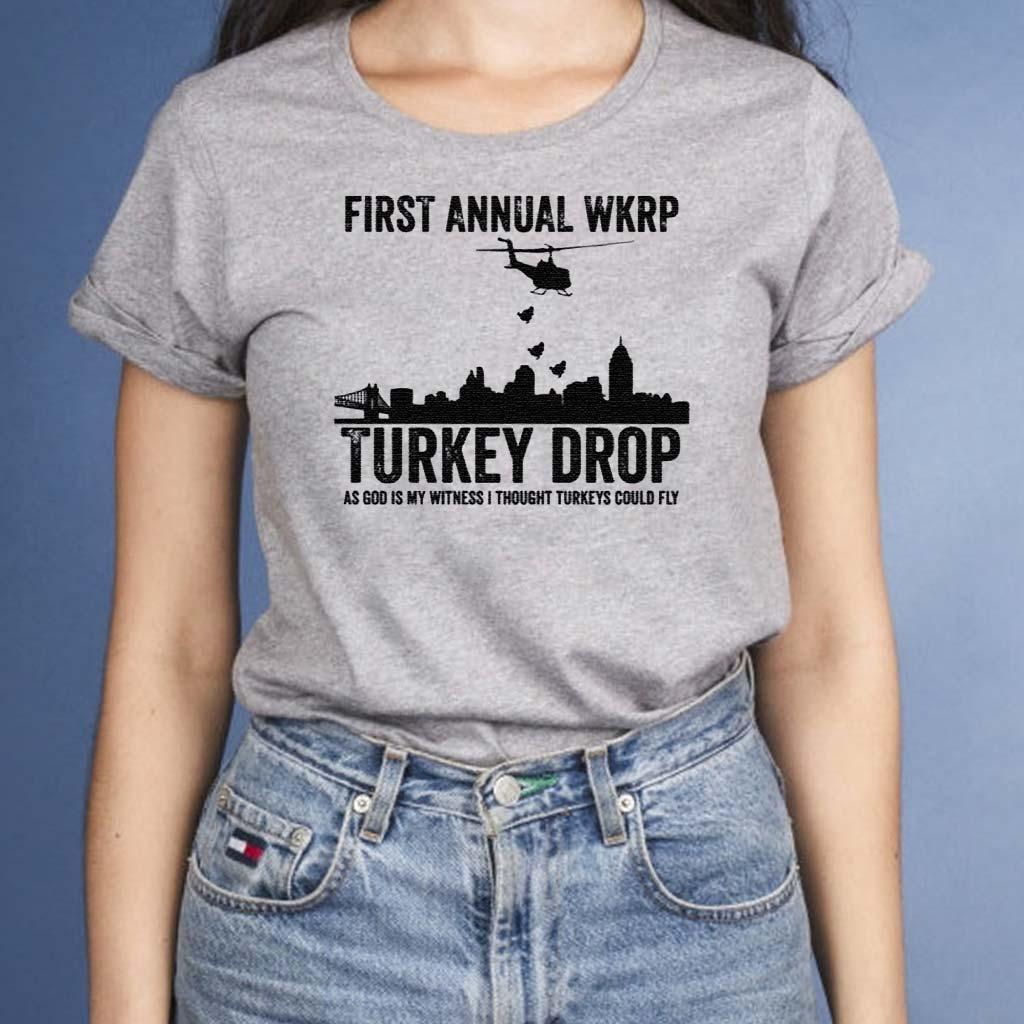 First-Annaul-Wkrp-Turkey-Drop-Tee-Shirts