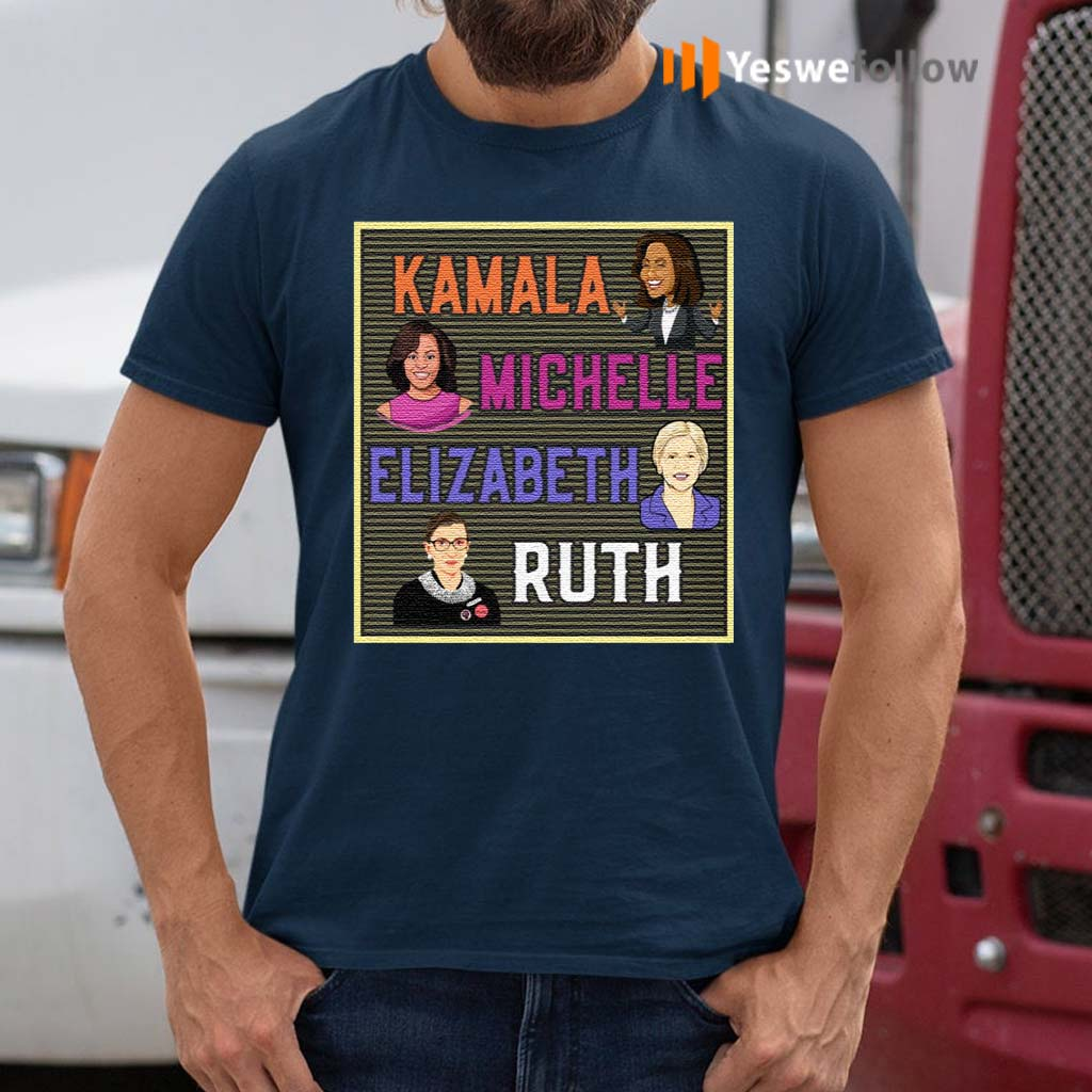 Kamala-Michelle-Elizabeth-Ruth-Portrait-T-Shirt