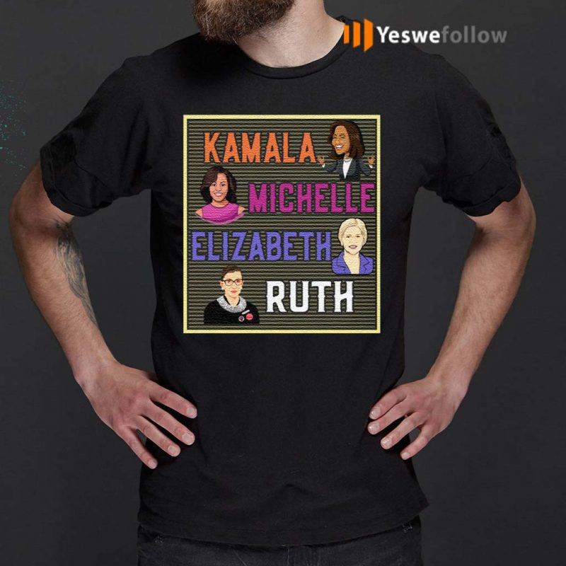 Kamala-Michelle-Elizabeth-Ruth-Portrait-T-Shirts