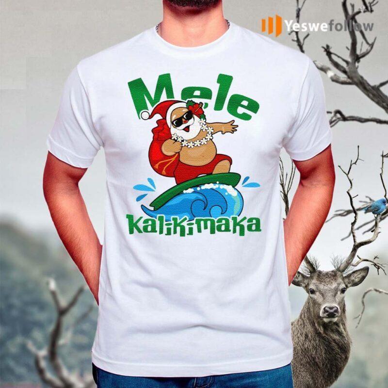 Mele-Kalikimaka-Hawaii-Santa-T-Shirts