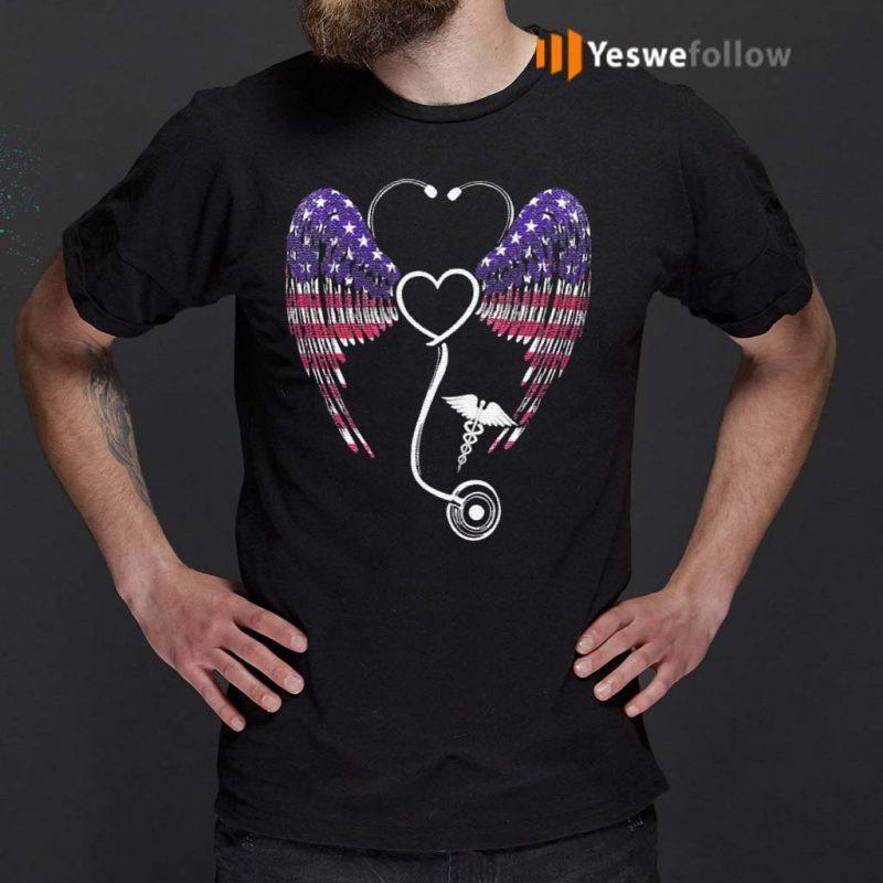 Nursing-Stethoscope-Wing-T-Shirts