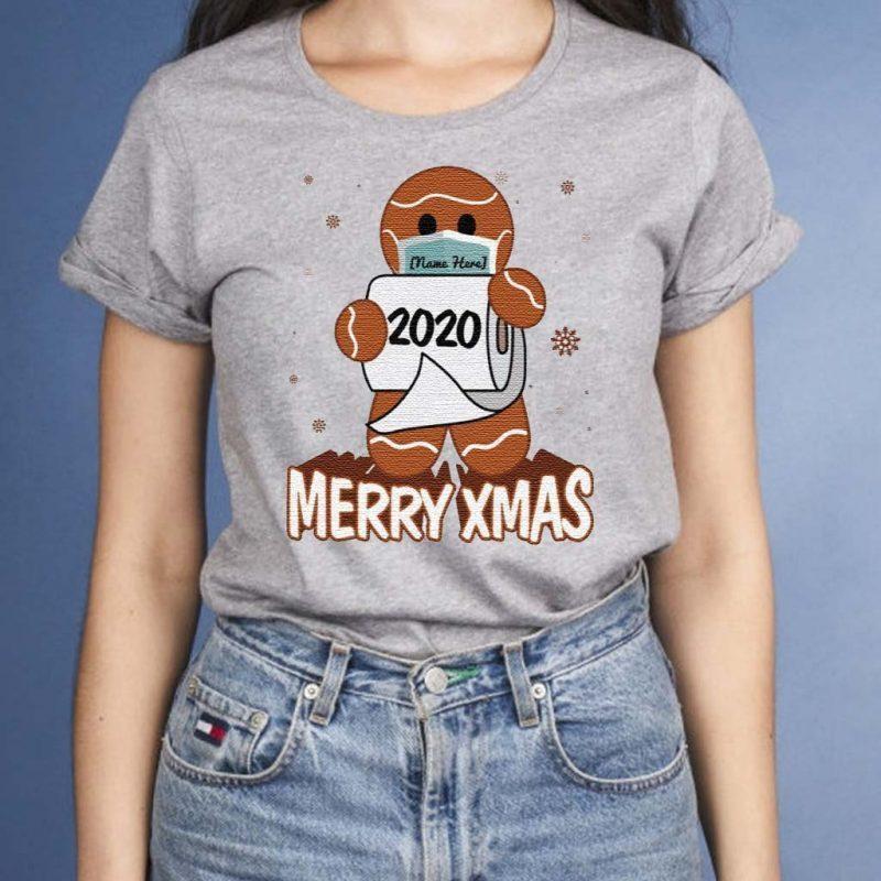 Personalized-Gingerbread-Man-Wear-Mask-Funny-Quarantine-Christmas-T-Shirt