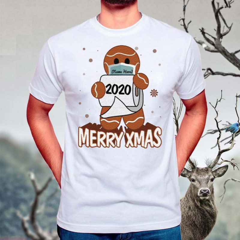Personalized-Gingerbread-Man-Wear-Mask-Funny-Quarantine-Christmas-T-Shirts