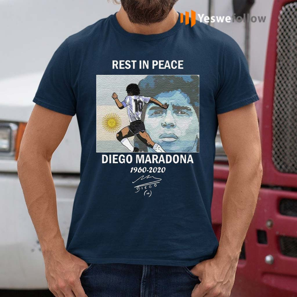 Rest-In-Peace-Diego-Maradona-1960-2020-T-Shirts