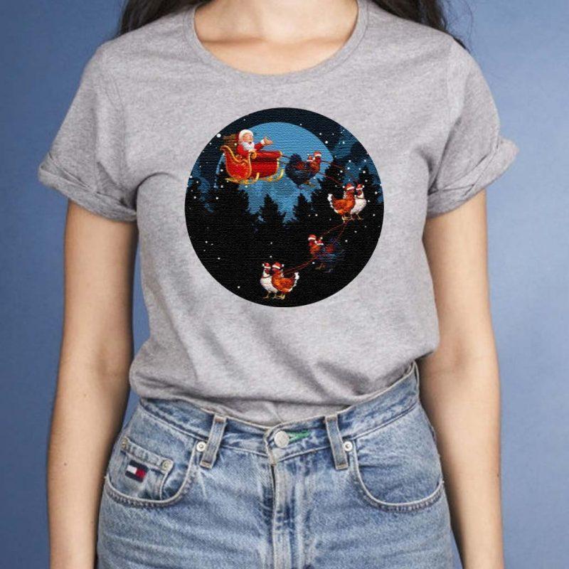 Santa-Claus-Riding-Chicken-Funny-Animal-Merry-Christmas-T-Shirt-s