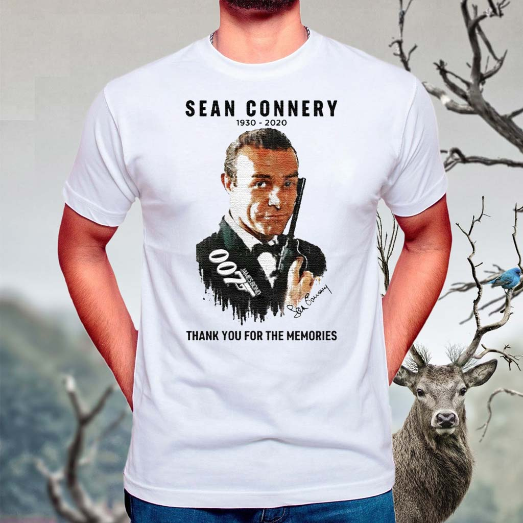 Sean-Connery-007-1930-2020-Signature-Thank-You-For-The-Memories-Shirts