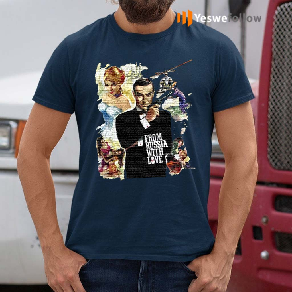Sean-Connery-007-From-Russia-With-Love-T-Shirts