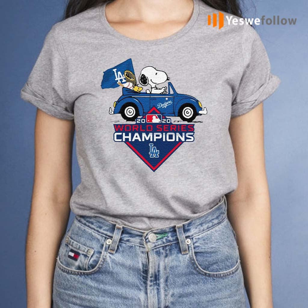 Snoopy-And-Woodstock-Los-Angeles-Dodgers-2020-World-Series-Champions-Shirt