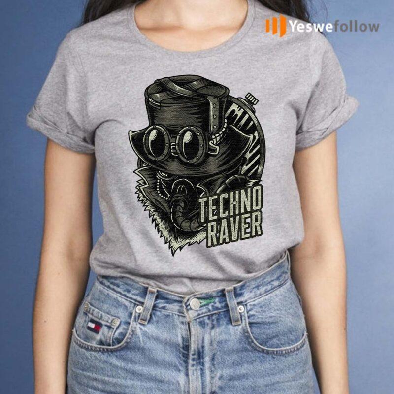Techno-Music-Raver-T-Shirt