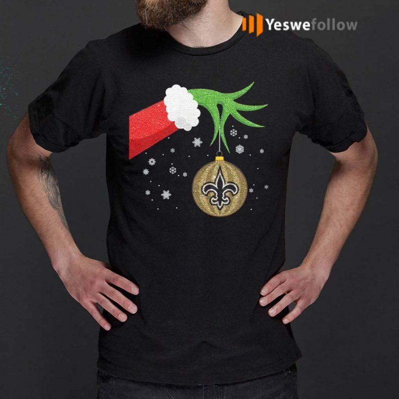 The-Grinch-Christmas-Ornament-New-Orleans-Saints-Shirt