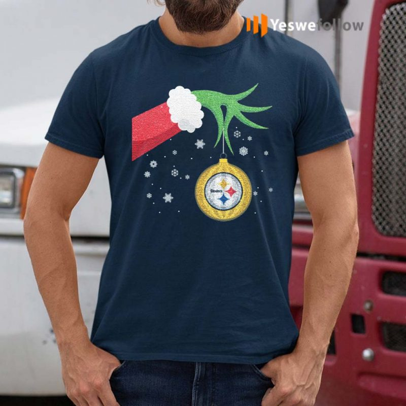 The-Grinch-Christmas-Ornament-Pittsburgh-Steelers-Shirt