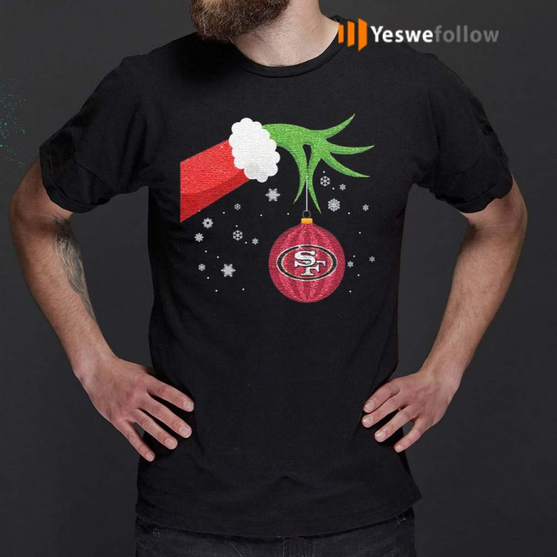 The-Grinch-Christmas-Ornament-San-Francisco-49ers-Shirt