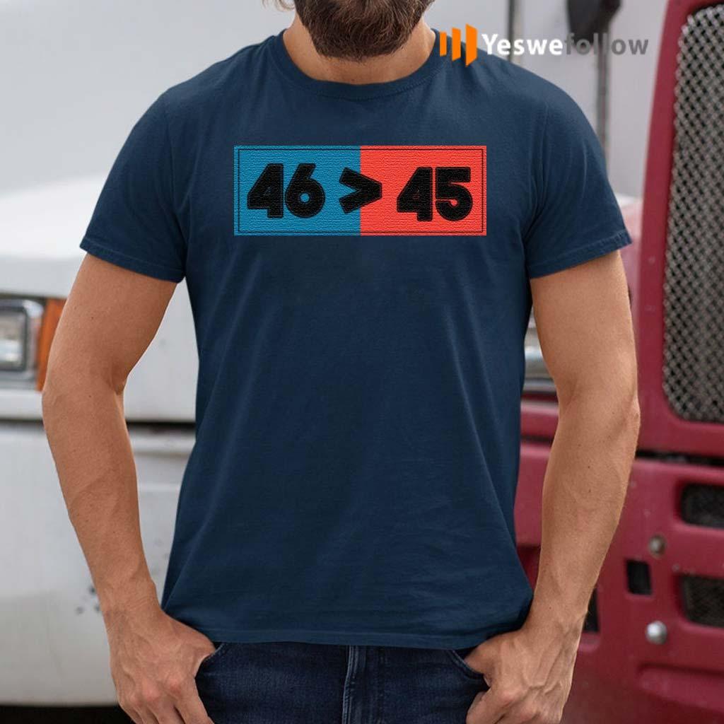 Trump-Lost-46-Won-45-Anti-Trump-Biden-Won-2020-T-Shirt