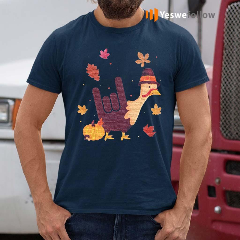 Turkey-Thanksgiving-I-Love-You-Sign-Language-T-Shirts