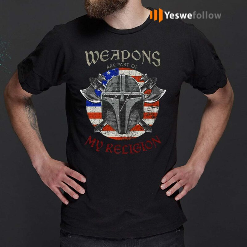 Weapons-Are-Part-Of-My-Religion-Warrior-Head-T-Shirt