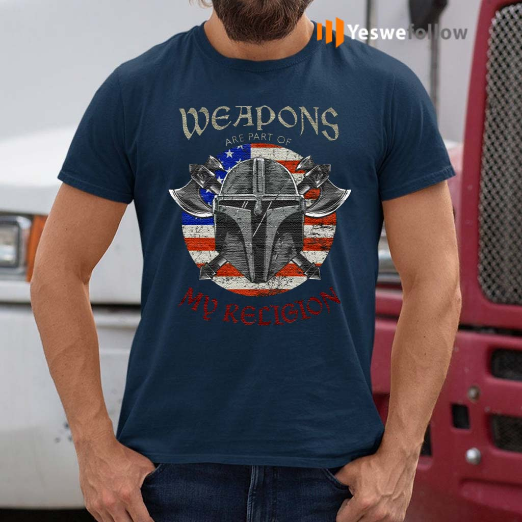 Weapons-Are-Part-Of-My-Religion-Warrior-Head-T-Shirts
