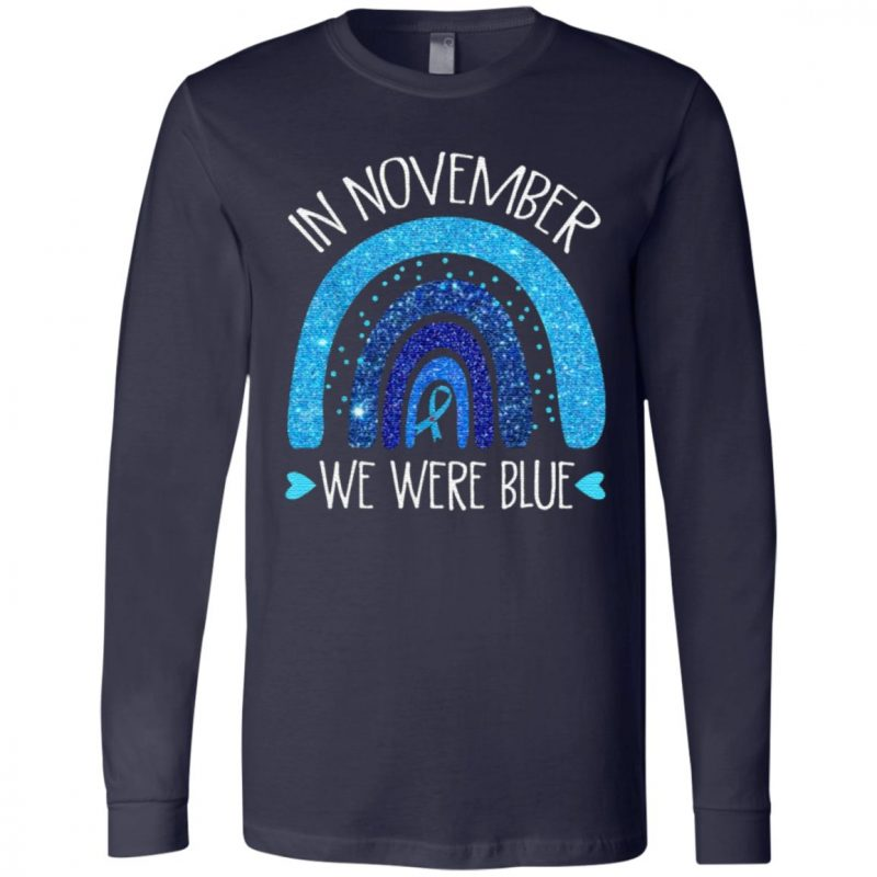 In November We Wear Blue Rainbow Diabetes Awareness Gifts T-Shirt