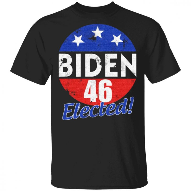 Joe Biden 46 Elected Celebrate Joe Biden 46th President Of America 2020 Wining Retro Vintage T-shirt