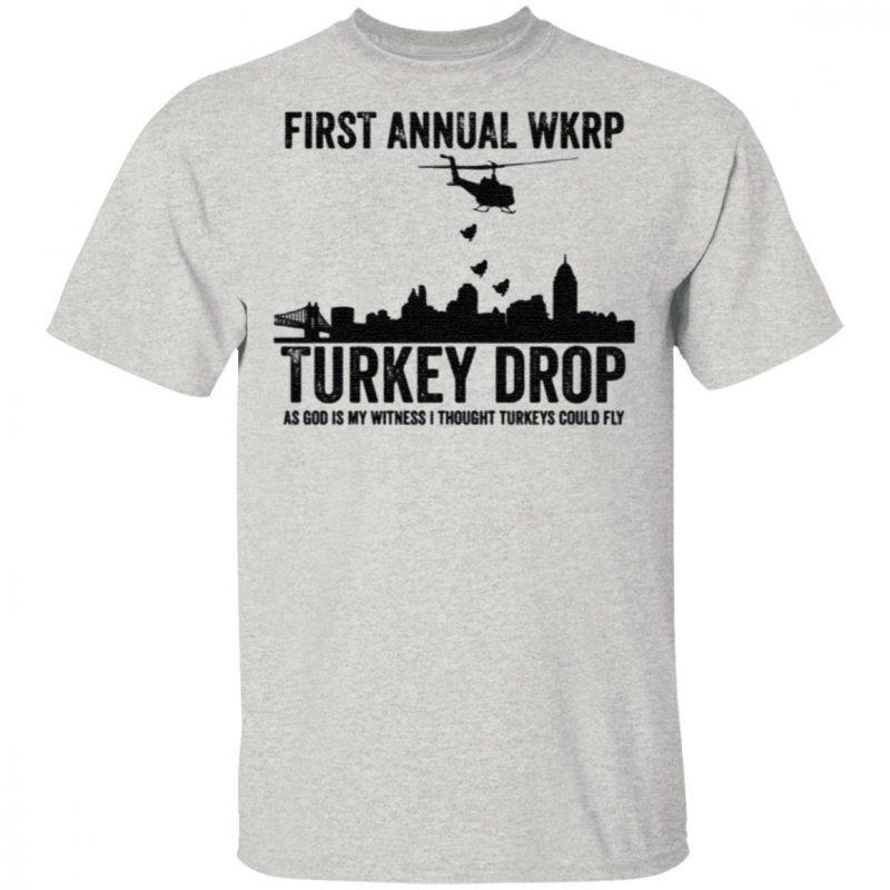 First Annaul Wkrp Turkey Drop Tee Shirt