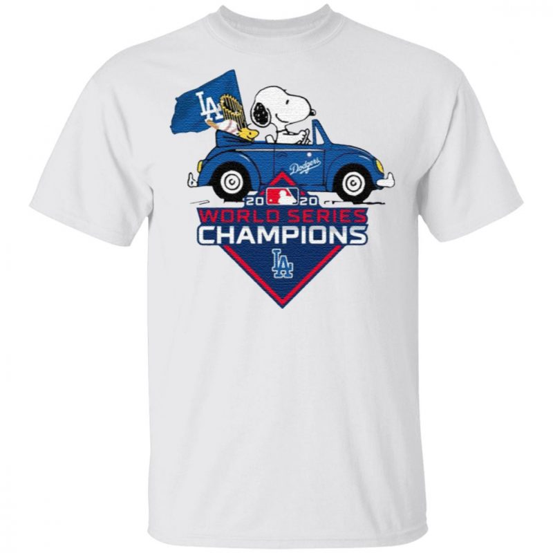 Snoopy And Woodstock Los Angeles Dodgers 2020 World Series Champions T Shirt
