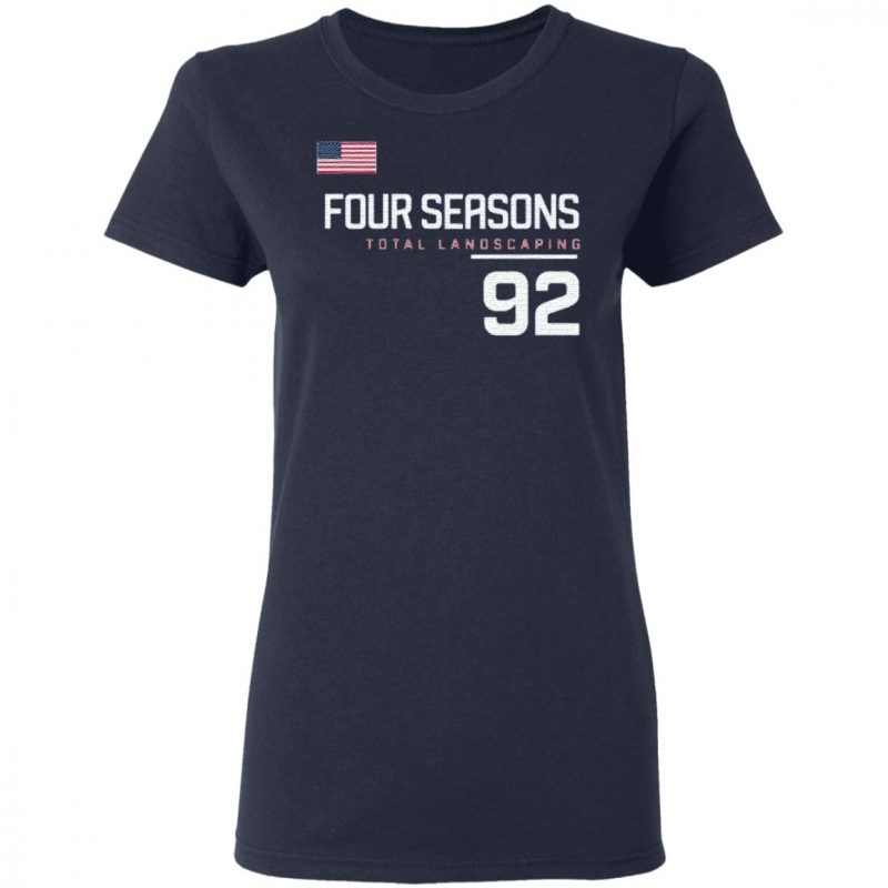 Four Seasons Total Landscaping 92 Blue T Shirt
