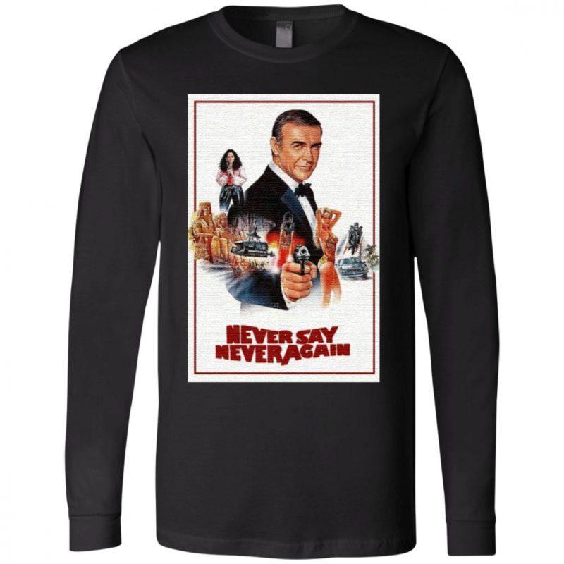 Sean Connery James Bond 007 Never Say Never Again T Shirt