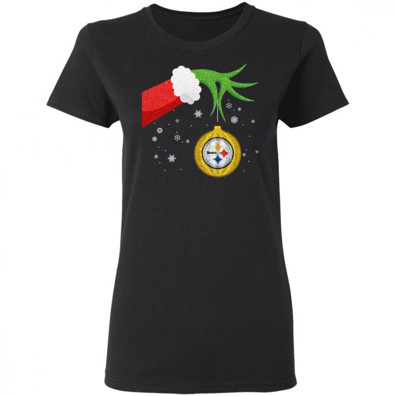 The Grinch Christmas Ornament Pittsburgh Steelers T Shirt