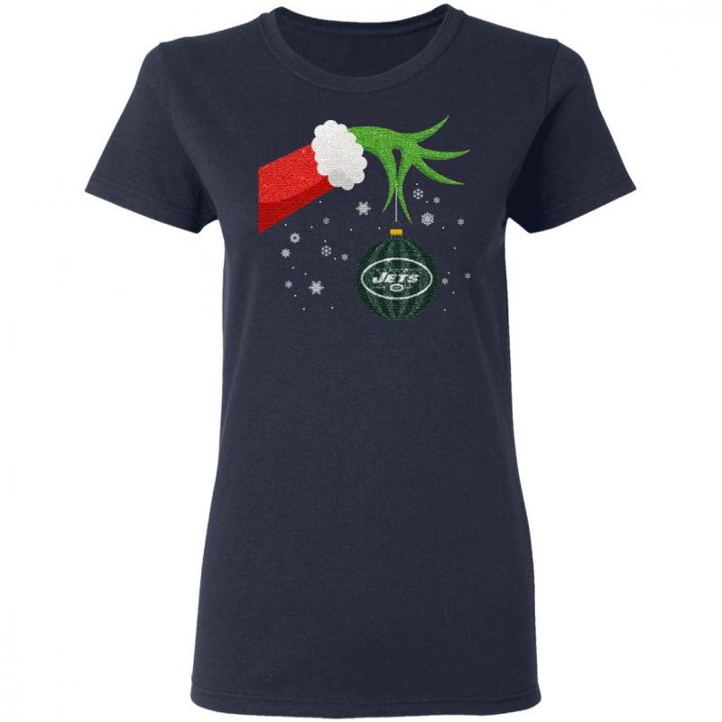 The Grinch Christmas Ornament New York Jets T Shirt