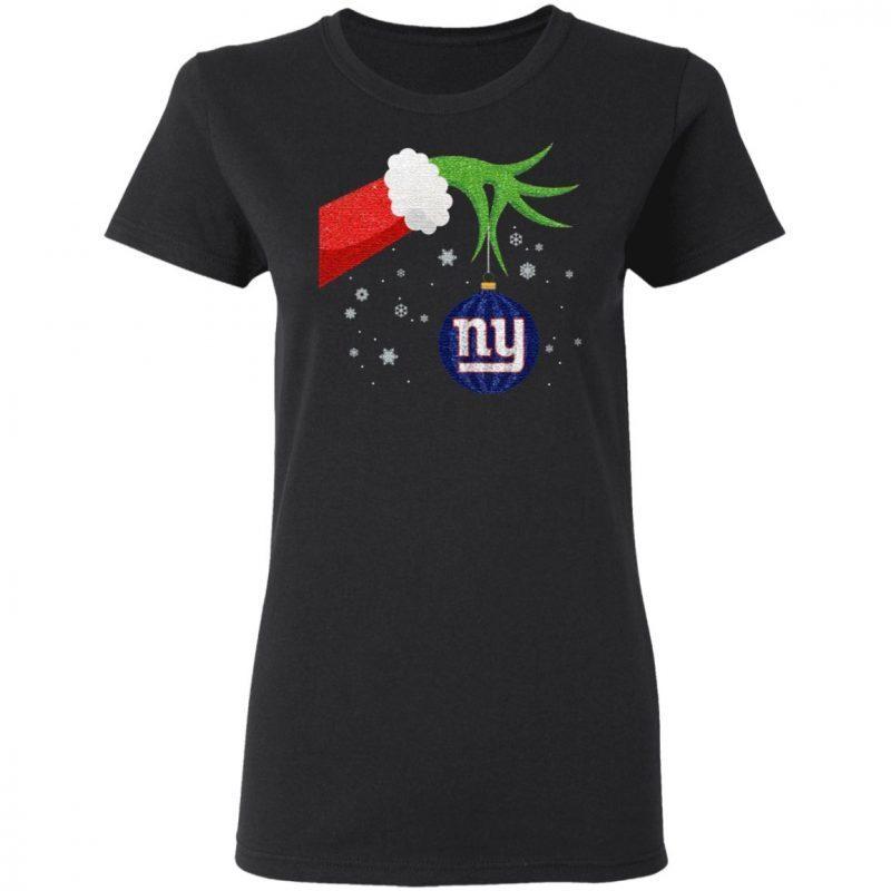 The Grinch Christmas Ornament New York Giants T Shirt