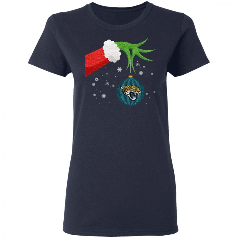 The Grinch Christmas Ornament Jacksonville Jaguars T Shirt