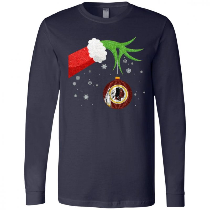 The Grinch Christmas Ornament Washington Redskins T Shirt