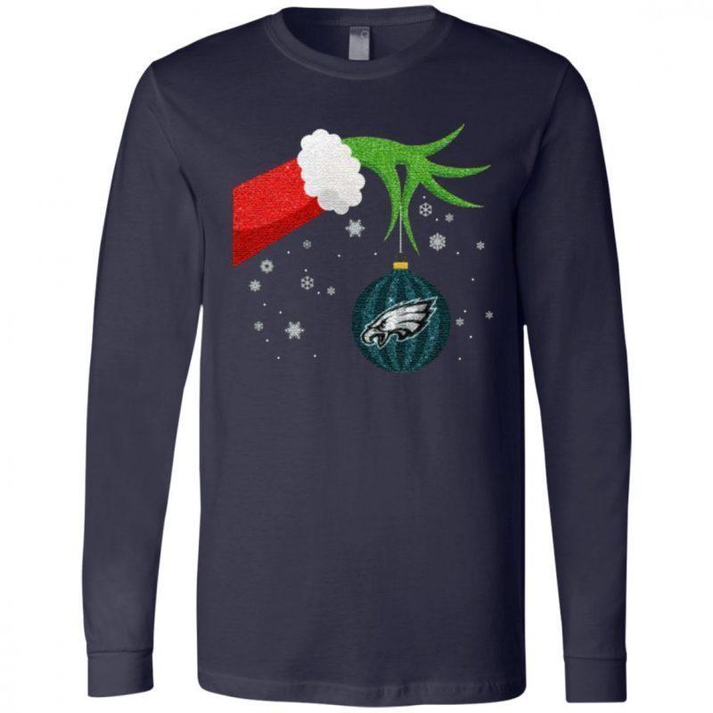 The Grinch Christmas Ornament Philadelphia Eagles T Shirt
