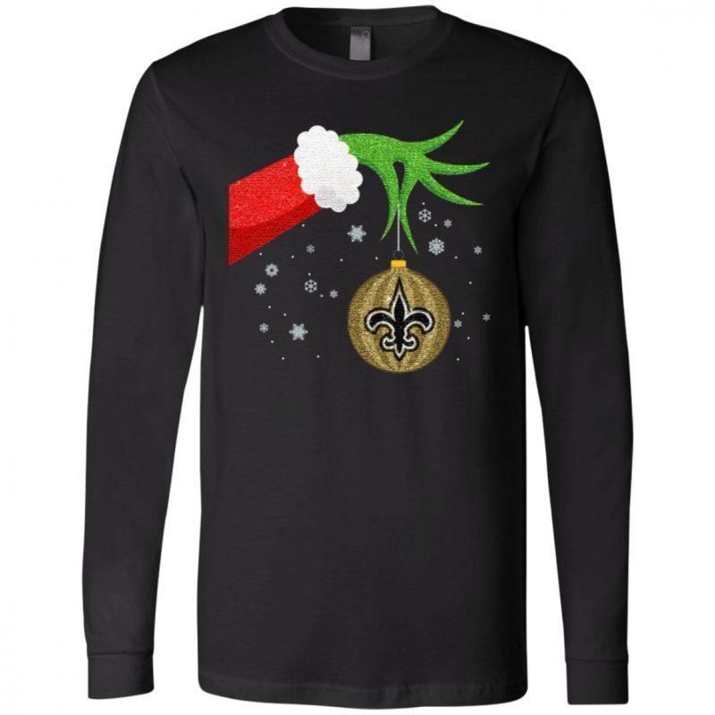 The Grinch Christmas Ornament New Orleans Saints T Shirt
