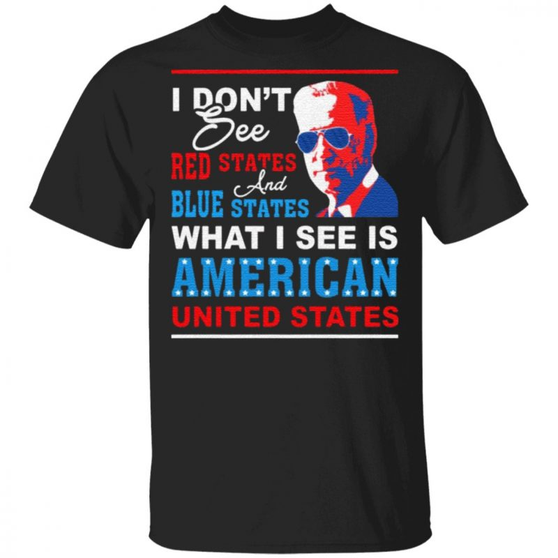 I Don't See Red States and Blue States I See American United States T-Shirt