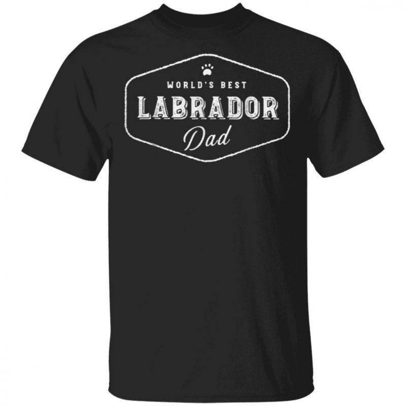 World's Best Labrador Dad T-shirt
