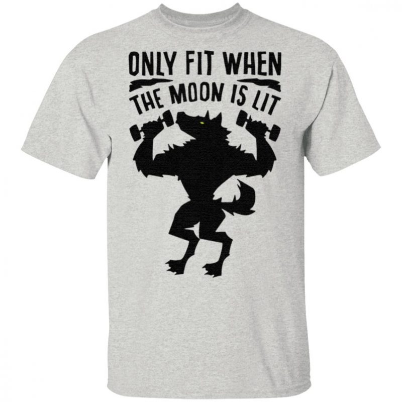 Only fit when the moon is lit t shirt
