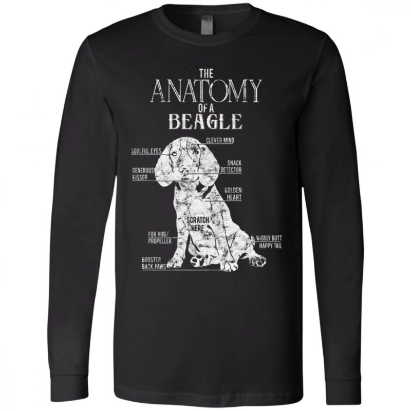 Anatomy Of A Beagle Dog T Shirt