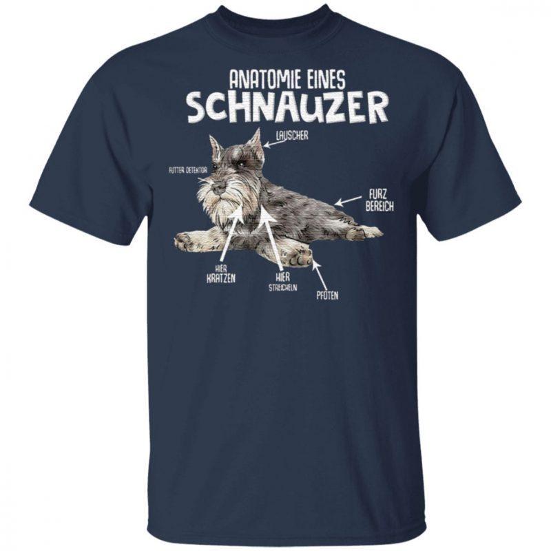Anatomie Eines Schnauzer Dog T Shirt