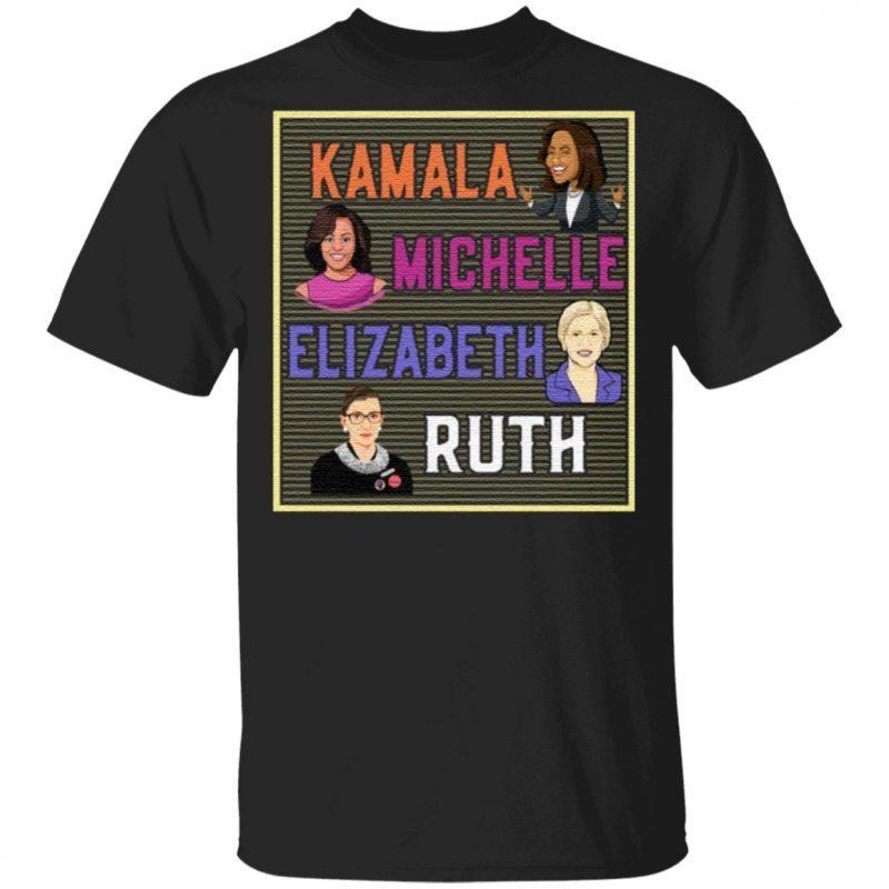 Kamala Michelle Elizabeth Ruth Portrait T-Shirt