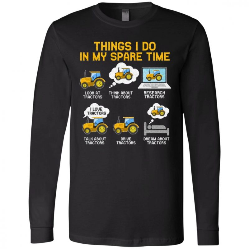 Things I Do In My Spare Time Tractor Farmer Youth T-Shirt