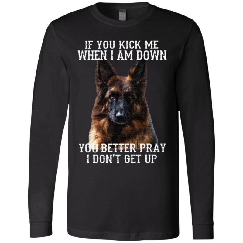 Dog if you kick Me when I am down you better pray I don't get up t shirt