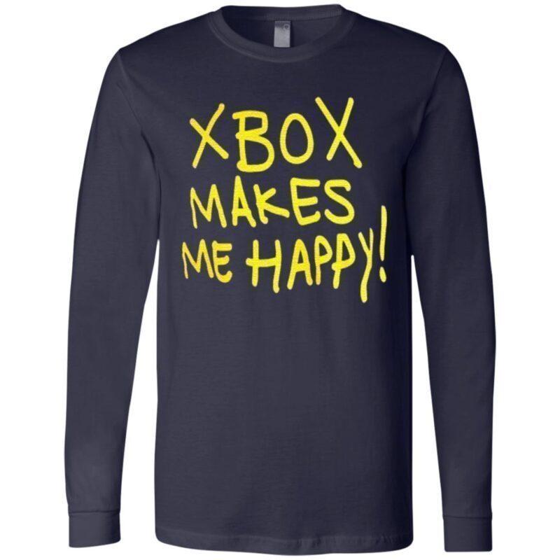 Xbox makes me happy t shirt