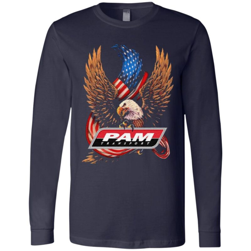 Pam transport eagle American flag veteran Independence Day t shirt