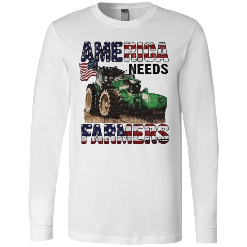 Trucker America Needs Farmers T Shirt