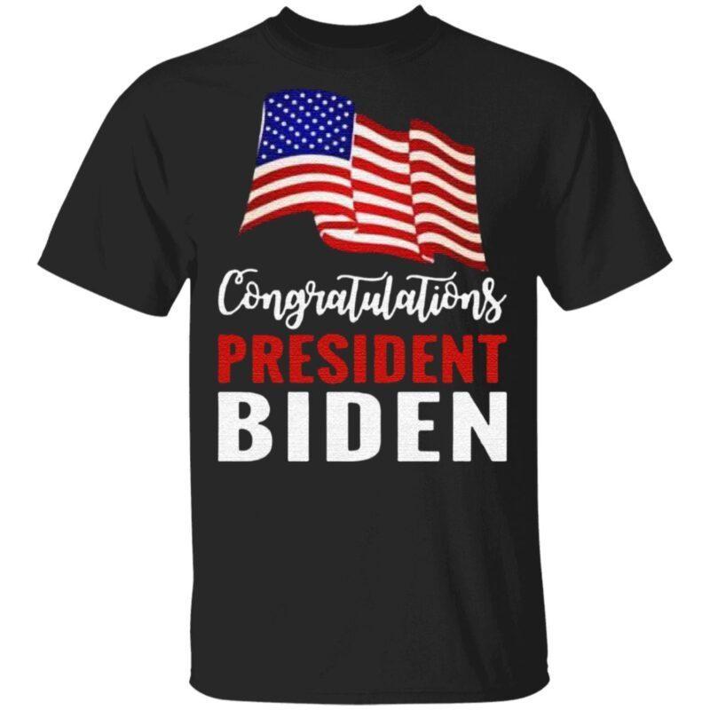 Congratulations President Biden American Flag Tee Shirt